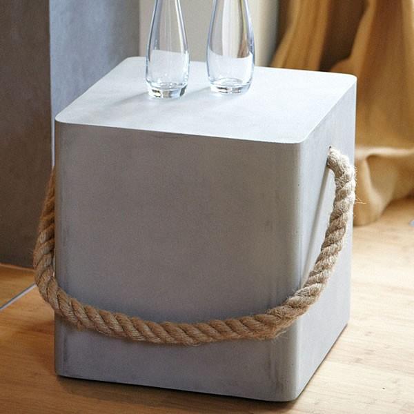 jan kurtz hocker rope beton. Black Bedroom Furniture Sets. Home Design Ideas