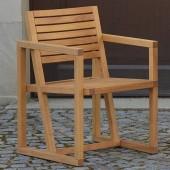 Jan Kurtz Armlehnsessel Timber - Robiniaholz natur geölt