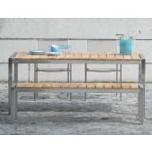 Jan Kurtz Tisch Luxury - Edelstahl / Teakholz